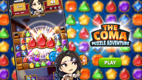 Screenshot 1: The Coma: Jewel Match 3 Puzzle