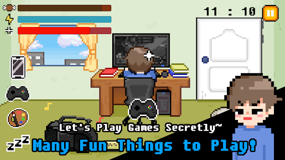 Screenshot 2: PRETENDING TO STUDY! - Play Without Family Knowing