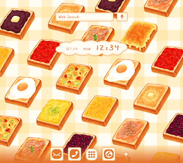 Screenshot 1: Food Wallpaper Toasts Patterns Theme