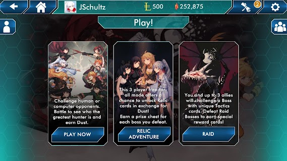 Screenshot 3: RWBY Deckbuilding Game
