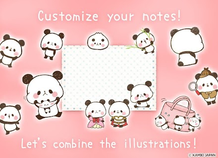 Screenshot 2: Sticky Note Mini MOCHI MOCHI PANDA