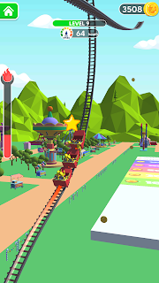 Screenshot 3: Draw Rollercoaster 3d