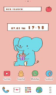 Screenshot 3: Cute Wallpaper Lunch for One Theme