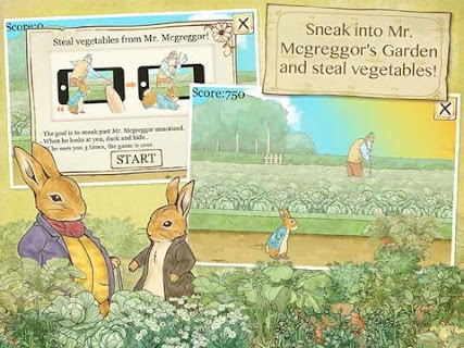 Screenshot 3: Peter Rabbit's Garden