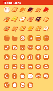 Screenshot 4: Food Wallpaper Toasts Patterns Theme