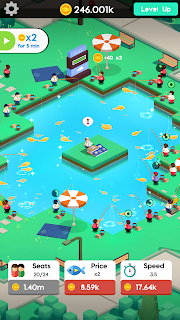 Screenshot 1: Idle Fishing - Manage Fishing Farm