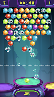 Screenshot 3: Spooky Bubble Shooter