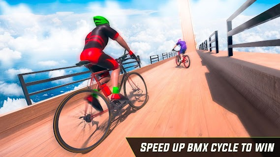 Screenshot 1: Cycle Stunt Game: Mega Ramp Bicycle Racing Stunts