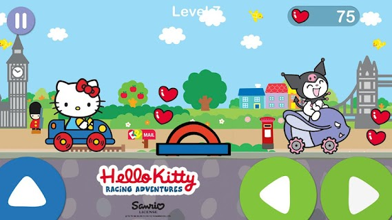 Screenshot 1: Hello Kitty juego de aventura de carreras