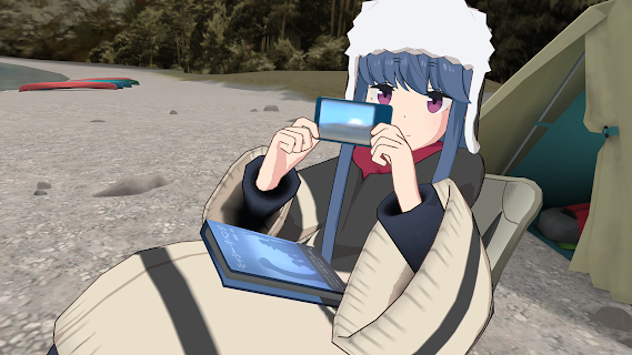 Screenshot 3: Laid-Back Camp - Virtual - Lake Motosu