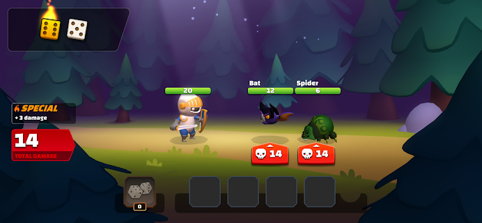 Screenshot 1: Dice Quest