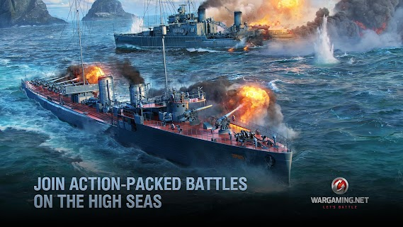 Screenshot 1: World of Warships Blitz: Gunship Action War Game