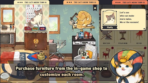 Screenshot 2: The cat's meow town