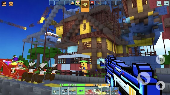 Screenshot 2: Cops N Robbers - 3D Pixel Craft Gun Shooting Games