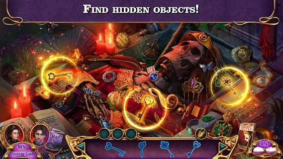 Screenshot 1: Hidden Objects - Dark Romance 9 (Free To Play)
