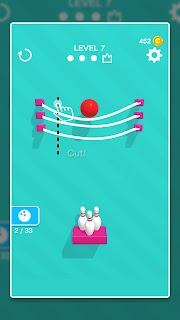 Screenshot 1: Line Cut Bowling
