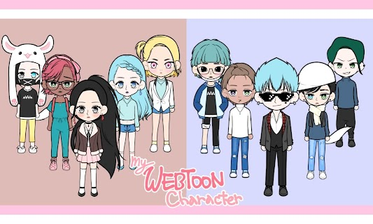 Screenshot 1: My Webtoon Character - K-pop IDOL avatar maker