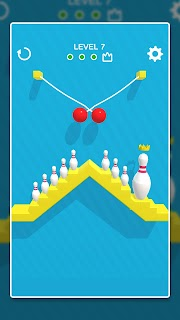 Screenshot 2: Line Cut Bowling