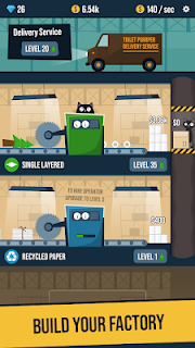 Screenshot 1: Toilet Paper Factory Idle