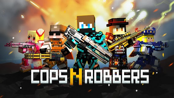 Screenshot 1: Cops N Robbers - FPS Mini Game