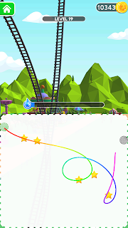 Screenshot 1: Draw Rollercoaster 3d