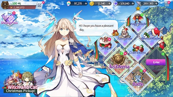 Screenshot 1: Shining Maiden | English