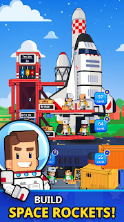 Screenshot 1: Rocket Star - Idle Space Factory Tycoon