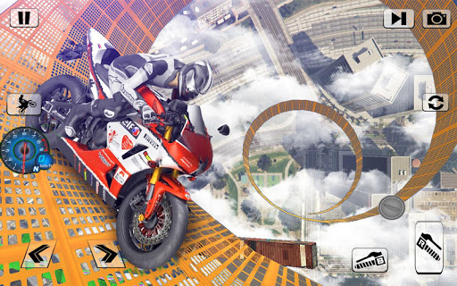 Screenshot 3: Bike Impossible Tracks Race: 3D Motorcycle Stunts