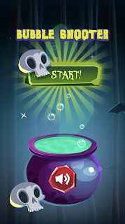 Screenshot 1: Spooky Bubble Shooter