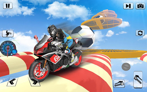 Screenshot 2: Bike Impossible Tracks Race: 3D Motorcycle Stunts