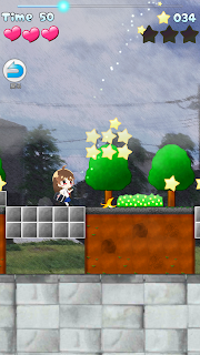 "Screenshot 1: MICHIRU RUN ""Kawaii"" but difficult 2DPlatform !"