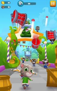 Screenshot 1: Talking Tom Blast Park: The New Blasting Adventure
