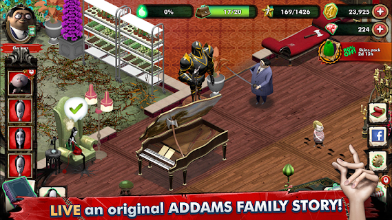 Screenshot 1: The Addams Family - Mystery Mansion