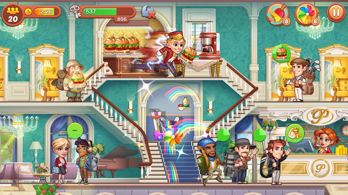 Telecharger Hotel Fever Grand Hotel Tycoon Story Qooapp Game Store