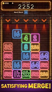 Screenshot 4: Drop Number : Neon 2048