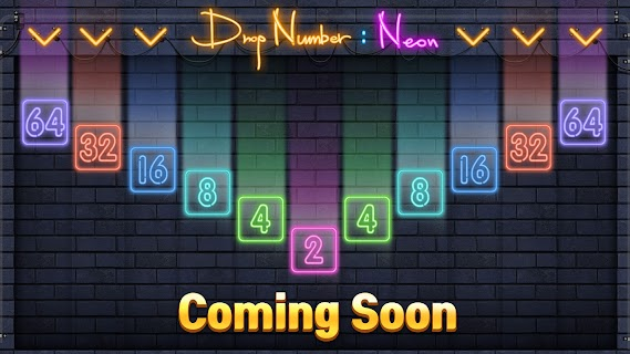 Screenshot 1: Drop Number : Neon 2048