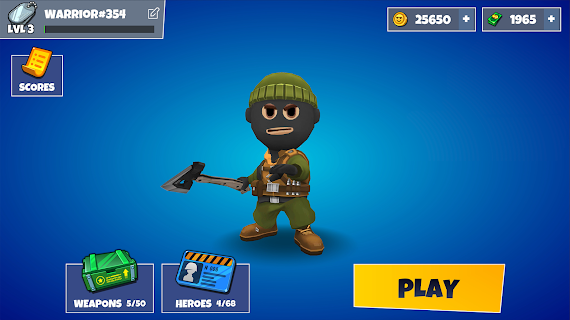 Screenshot 1: Warriors.io - Battle Royale & TPS