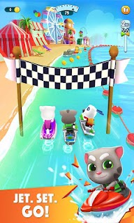 Screenshot 1: Talking Tom Jetski 2