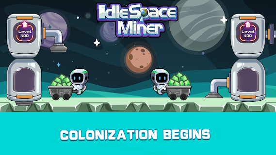 Screenshot 1: Idle Space Miner - Idle Cash Mine Simulator