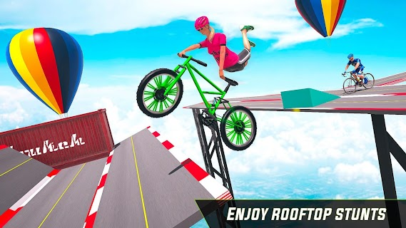 Screenshot 2: Cycle Stunt Game: Mega Ramp Bicycle Racing Stunts
