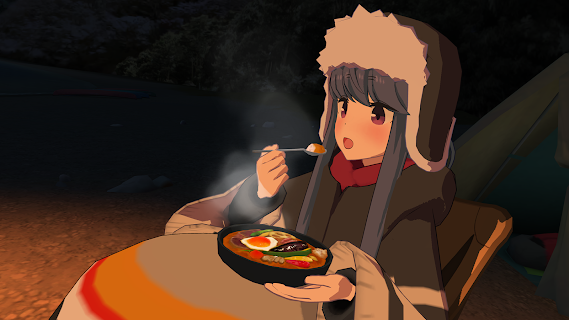 Screenshot 1: Laid-Back Camp - Virtual - Lake Motosu