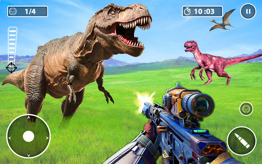 Screenshot 2: Wild Dino Hunter Animal Hunting Games 2021