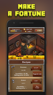 Screenshot 2: ForgeCraft - Idle Tycoon. Crafting Business Game.
