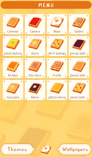 Screenshot 2: Food Wallpaper Toasts Patterns Theme
