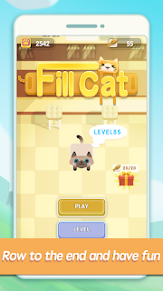 Screenshot 1: Fill Cat - One-Line puzzle
