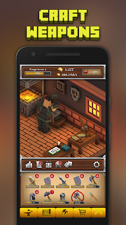 Screenshot 1: ForgeCraft - Idle Tycoon. Crafting Business Game.
