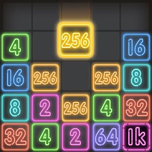 Icon: Drop Number : Neon 2048