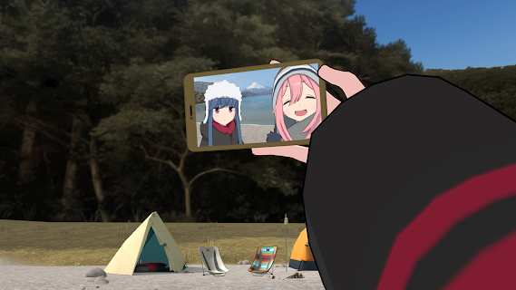 Screenshot 2: Laid-Back Camp - Virtual - Lake Motosu