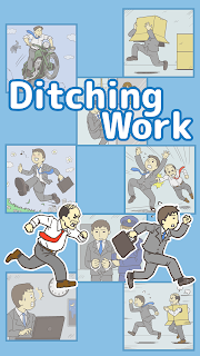 Screenshot 1: Ditching Work -room escape game