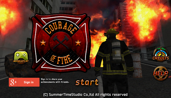 Screenshot 1: Courage of Fire